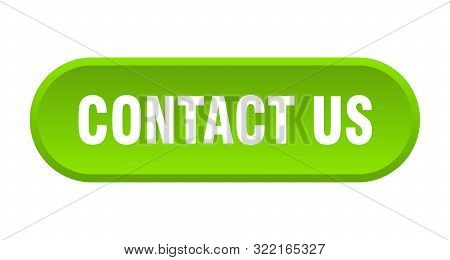 Contact Us Button. Contact Us Rounded Green Sign. Contact Us