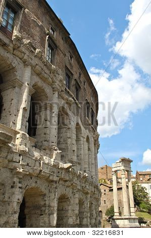 The Theatre of Marcellus in Rome.