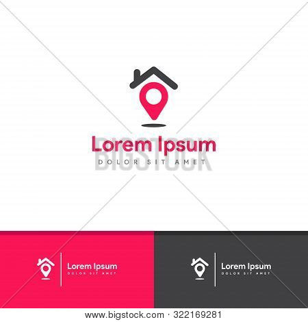 New Homes Logo , Home Finder Logo , Modern Style , Isolated Vector Eps 10