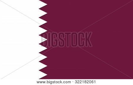 State Of Qatar Flag,doha. Arab Country.middle East Qatari National Flag.