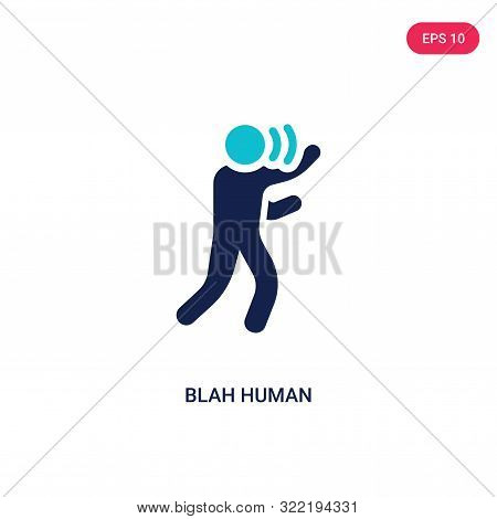 blah human icon in two color design style.