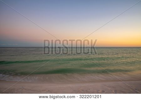 Peaceful Sunset Scene Over The Gulf Of Mexico