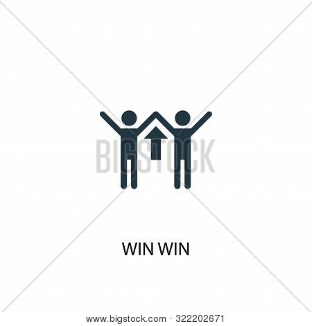 Win Win Icon. Simple Element Illustration. Win Win Concept Symbol Design. Can Be Used For Web