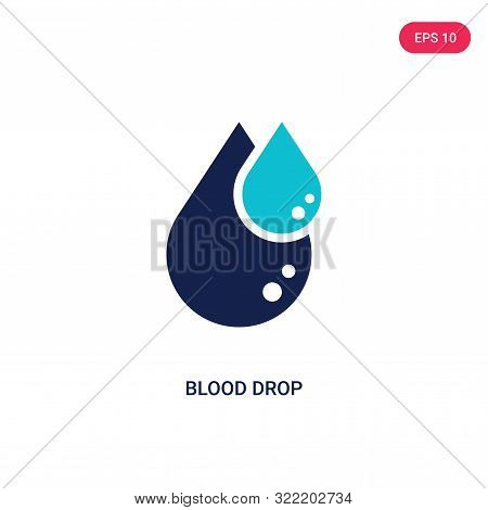 blood drop icon in two color design style.