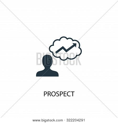 Prospect Icon. Simple Element Illustration. Prospect Concept Symbol Design. Can Be Used For Web