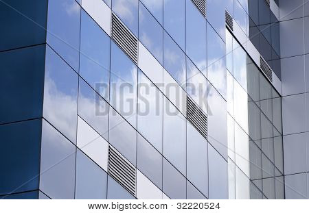 Glass Building With Ventilation Grills