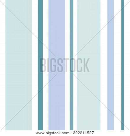 Serene Aqua Teal Blue Stripes Seamless Vector Pattern