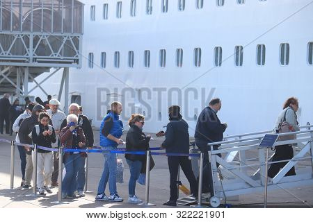 Ijmuiden, The Netherlands - September5th 2019: Costa Magica, Owned By Costa Cruises Moored At Feliso