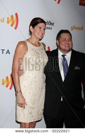 LOS ANGELES - APR 21:  Mary Bono Mack; Chaz Bono arrives at the 23rd GLAAD Media Awards at Westin Bonaventure Hotel on April 21, 2012 in Los Angeles, CA