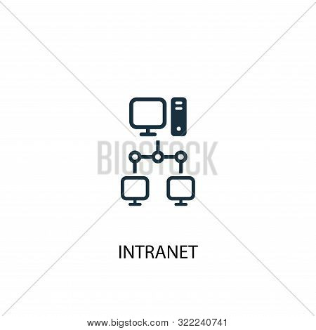 Intranet Icon. Simple Element Illustration. Intranet Concept Symbol Design. Can Be Used For Web
