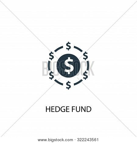Hedge Fund Icon. Simple Element Illustration. Hedge Fund Concept Symbol Design. Can Be Used For Web
