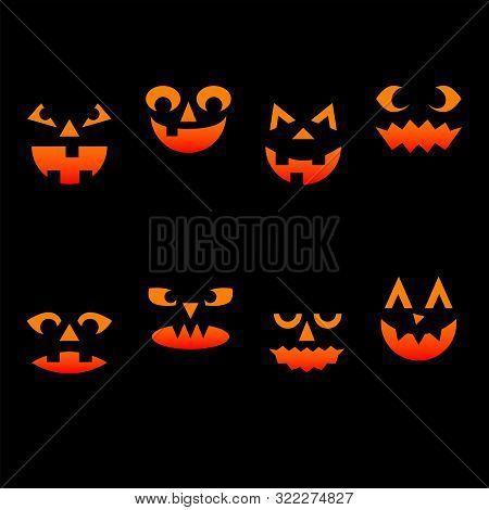 Banner With Pumpkin, Invitation Vector Element. Invitation Card Set. Horror Halloween Background Wit