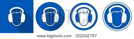 Symbol Wear Ear Muff Symbol Sign Isolate On White Background,vector Illustration Eps.10