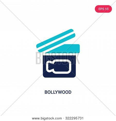 bollywood icon in two color design style.