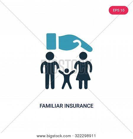 familiar insurance icon in two color design style.