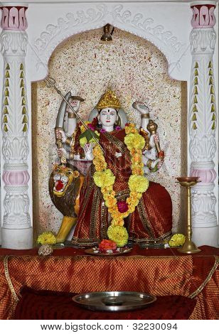 Laxmi Hindu Idol At Dhatva Temple