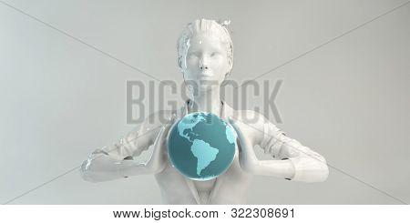 World Digital Communication with Advanced Internet Connectivity 3d Render