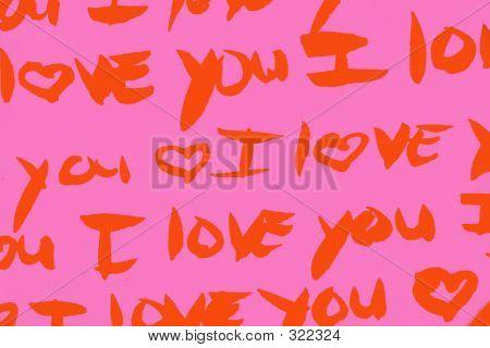 Orange And Pink I Love You