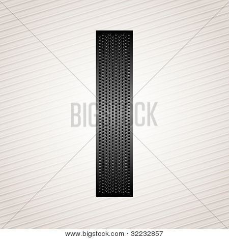 Letter metal ribbon - I