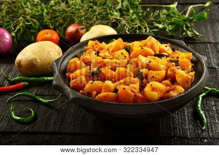Homemade Indian Potato Roast- Dum Aloo, Jeera,
