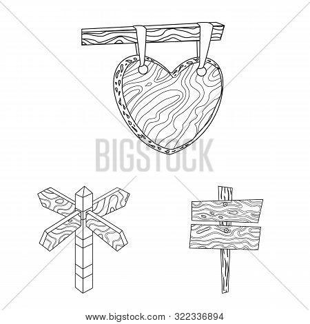 Isolated Object Of Hardwood And Material Icon. Set Of Hardwood And Wood Stock Vector Illustration.