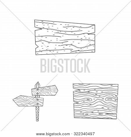 Isolated Object Of Hardwood And Material Symbol. Collection Of Hardwood And Wood Stock Symbol For We