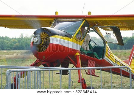 Samara, Russia - August 22, 2019: Light Sport Aircraft Drove Into The Parking Lot