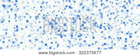 Matrix Vector. Blue Particle Background. White Information Technology. Data Software. Blue Matrix Co