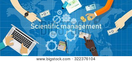 Scientific Management. Theory Of Management That Analyzes And Synthesizes Workflows. Its Main Object