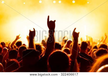 Concert audience at rock concert