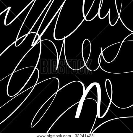 Black Lines Smooth Abstract Simple Wave Water Shape Black And White Coating Minimalistic Element Pos