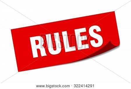 Rules Sticker. Rules Square Isolated Sign. Rules