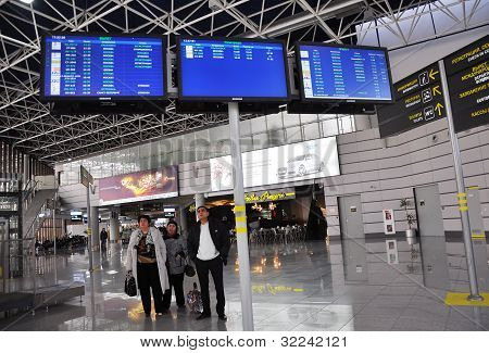 Russia, Sochi - March 15: Peoples in a terminal of International Sochi airport