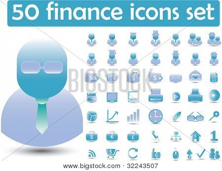 50 premium finance icons - (gradient, easy edit vector)
