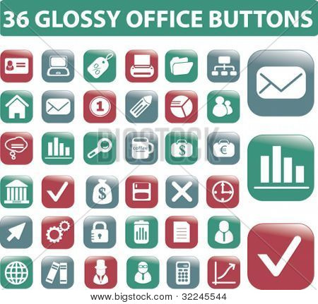 office buttons. please, visit my portfolio to find more similar.