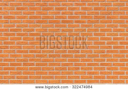 Brickwall Background. Light Brown Brick Wall With Microcracks.