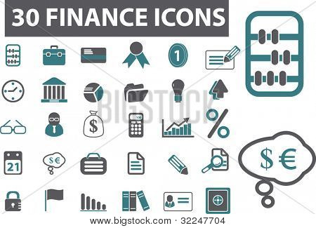 30 finance icons. vector
