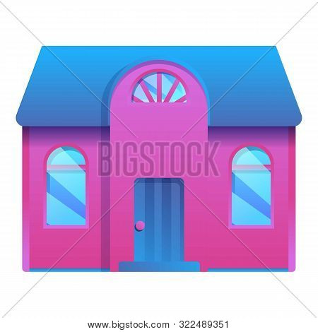 House Town Icon. Cartoon Of House Town Vector Icon For Web Design Isolated On White Background
