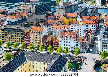 poster of Beautiful aerial view of Copenhagen from above, Denmark.