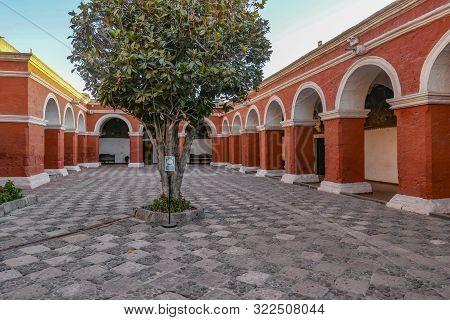 Catholic Santa Catalina Monastery In Arequipa Peru