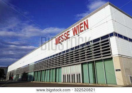 WIEN, AUSTRIA, AUGUST 15, 2019: International Commercial Headquarter for exhibitions, Wien, Europe