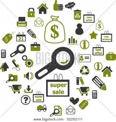 internet shopping & e-commerce signs. vector