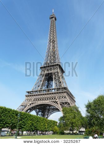 The Eiffel Tower in Paris France on a sunny day poster