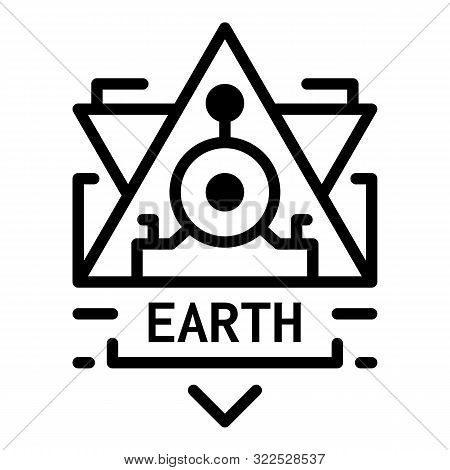 Earth Alchemy Icon. Outline Earth Alchemy Vector Icon For Web Design Isolated On White Background