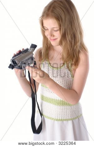 Little Girls With Video Camera