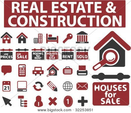 30 real esate & construction signs. vector