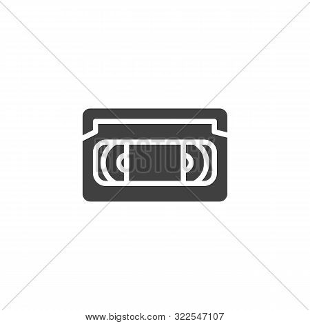 Vhs Tape Vector Icon. Video Cassette Filled Flat Sign For Mobile Concept And Web Design. Retro Vhs C