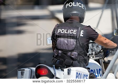Police Officer On Police Bike, Motorcycle Force
