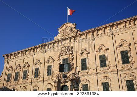 Office Of The Prime Minister Called Auberge De Castille In Valletta. Malta