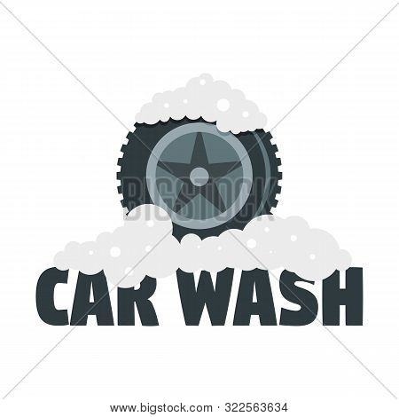 Car Wash Tire Logo. Flat Illustration Of Car Wash Tire Vector Logo For Web Design